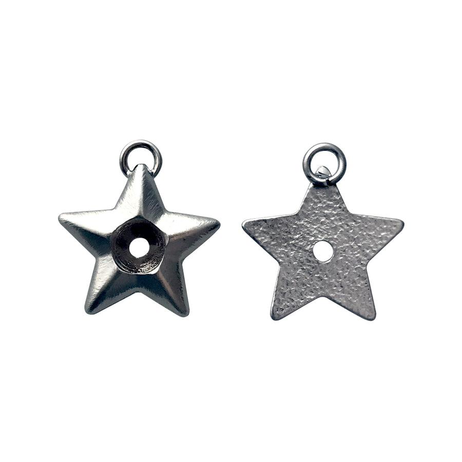 SS29 Metal Casting Star Pendant Base With Top Loop