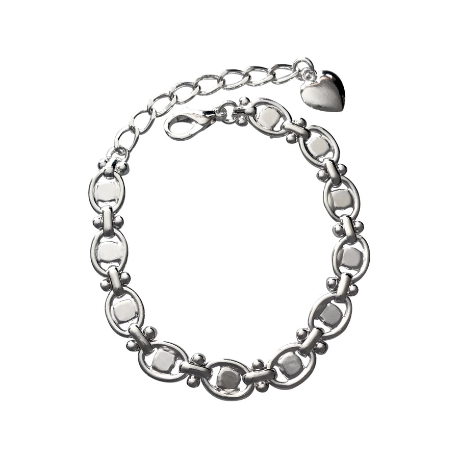 SS24 Oval Decorative Almost Finished Bracelet Base, 6.5 Inch