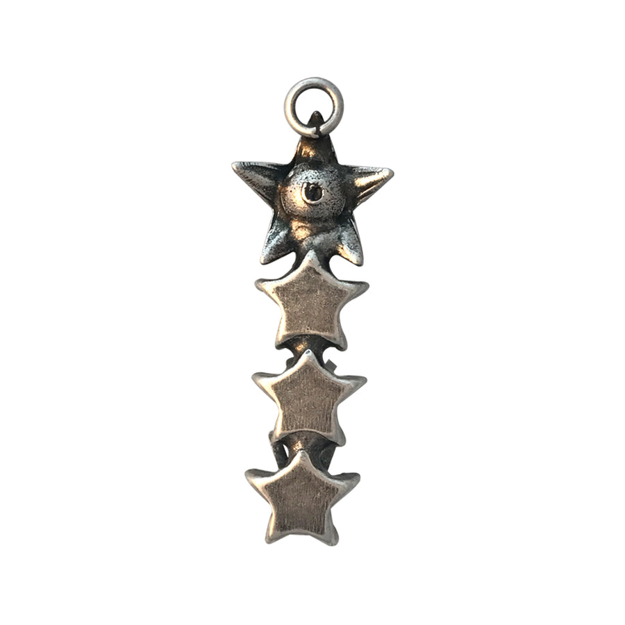 PP14, PP24, 10mm Antique Silver Star Vertical Pendant Base