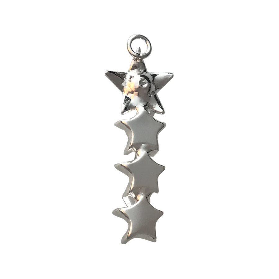PP14, PP24, 10mm Shiny Silver Star Vertical Pendant Base