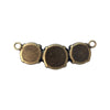12mm, 14mm Antique Brass Triple Rivoli Pendant Base