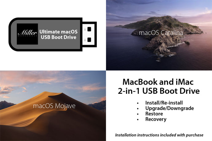 macOS 2-in-1 Combo Drive - macOS Catalina and macOS Mojave