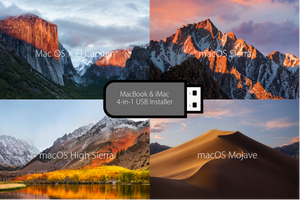 Mac 4-in-1 USB Boot Recovery Drive: El Capitan - Sierra - High Sierra - Mojave