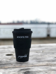 "Bamboo Travel Cup: Black ""#NOFILTER"" 14oz (400ml)"