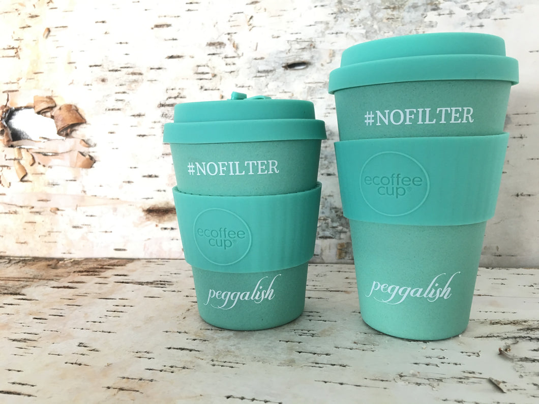 Bamboo Travel Cup Twinning Set: Aqua