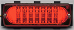 Whelen 500 Series Linear LIN6 LED - Red with Clear Lens