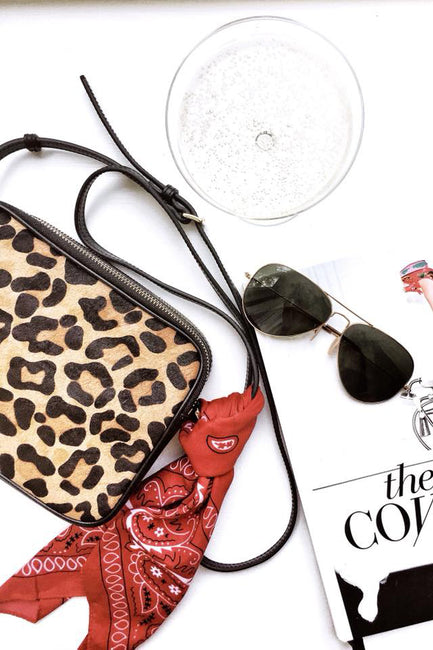 Kate Leopard Leather Crossbody Handbag - Melissa Jean Boutique