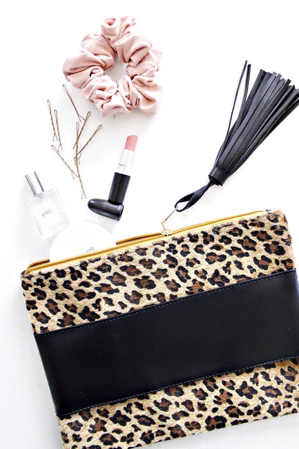Clara Leopard Clutch by The Sis Kiss - Melissa Jean Boutique