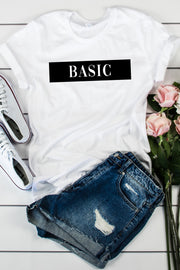"""Basic"" White Tee - Melissa Jean Boutique"