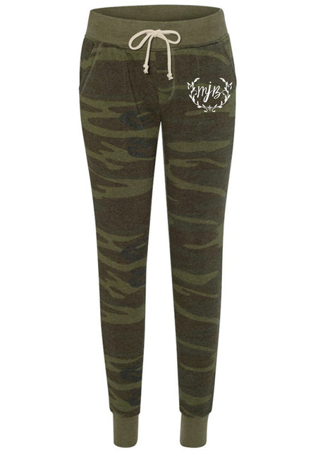 Camo Joggers With Logo