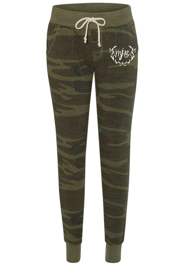 Camo Joggers With Logo - Melissa Jean Boutique