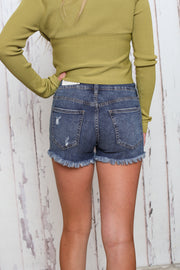 Just USA Dark Wash Denim Shorts - Melissa Jean Boutique