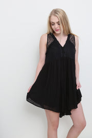 Romantic Nights Black Dress - Melissa Jean Boutique