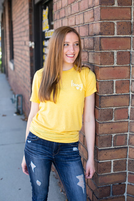 My Honey My Heart Yellow Tee - Melissa Jean Boutique