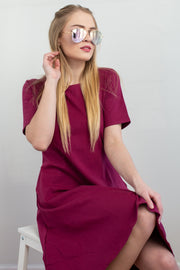 Molly Ann Pocket Dress Wine