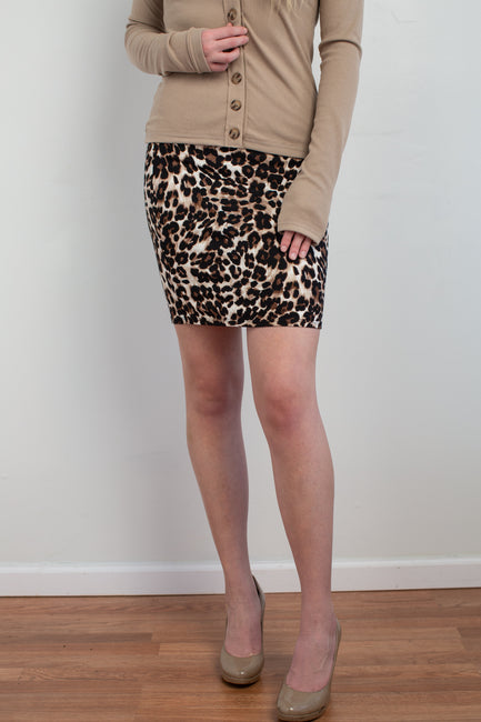 Out of the Wild Leopard Skirt