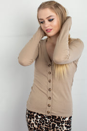 Cardi in Mocha - Melissa Jean Boutique