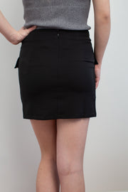 Lace It Up Black Mini Skirt - Melissa Jean Boutique