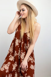Brooke Floral Tank Dress - Melissa Jean Boutique