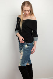 Vivian Sweater in Black - Melissa Jean Boutique