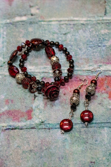 Be My Valentine Bracelets and Earrings Set - Melissa Jean Boutique