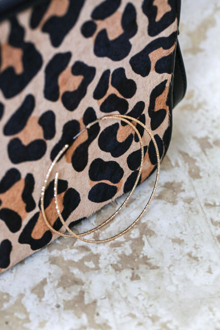 Large Gold Hoop Earrings - Melissa Jean Boutique