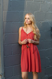 Crimson Cami Dress
