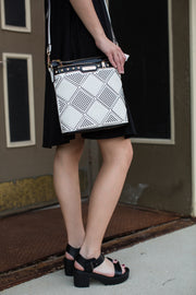 Romy Diamond Studded Crossbody handbag - Melissa Jean Boutique