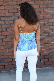 Palm Leaf Wrap Top - Melissa Jean Boutique