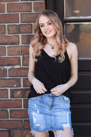 Grace Lace Black Cami - Melissa Jean Boutique
