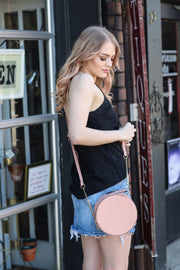 Blush Circle Crossbody Circle Bag - Melissa Jean Boutique