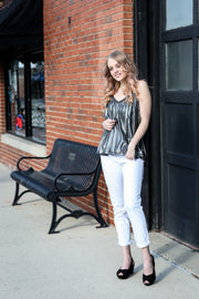 Liz Metallic Cami Top - Melissa Jean Boutique