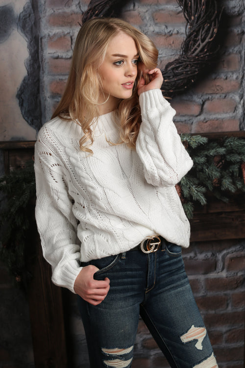 Chunky Knit Sweater -More Colors! - Melissa Jean Boutique