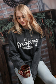 I'm Freaking Freezing! Hoodie - Melissa Jean Boutique