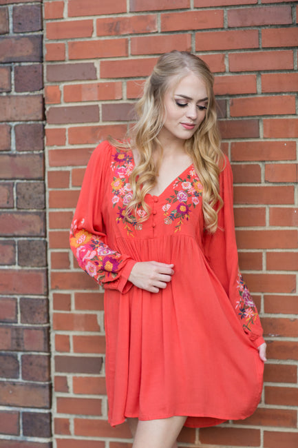 Sunset Nights Babydoll Dress - Melissa Jean Boutique