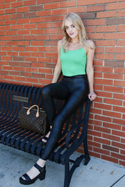 Spanx Black Faux Leather Leggings - Melissa Jean Boutique