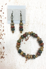 Picaso Jasper Gemstone Set  by Dazzled by Donna - Melissa Jean Boutique