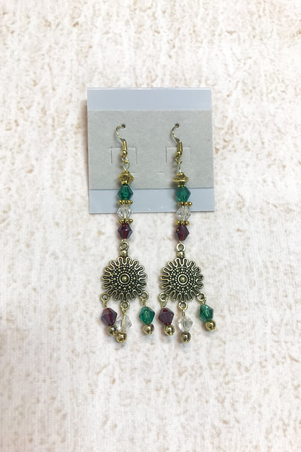 Drop Flower Earings by Dazzled by Donna - Melissa Jean Boutique