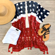 Stars and Stripes Kimono - Melissa Jean Boutique