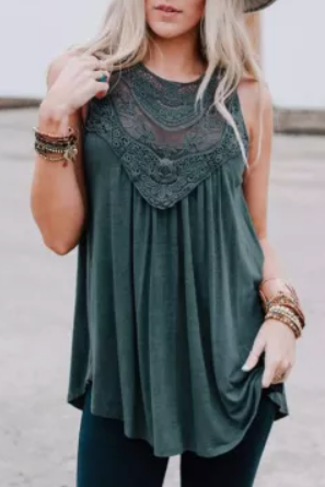 Green with Envy Sleeveless Top - Melissa Jean Boutique