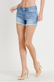 Just USA Light Wash Denim Shorts - Melissa Jean Boutique