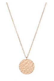 Hammered Silver Circle Necklace - Melissa Jean Boutique