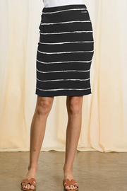 Black Stripe Knit Pencil Skirt - Melissa Jean Boutique