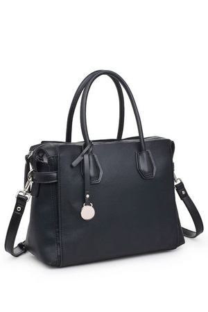Claudia Luxury Vegan Black Satchel