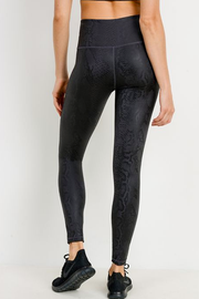 Mamba Black Snake Print Leggings