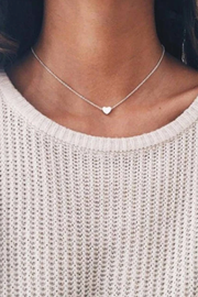 Dainty Heart Necklace Silver