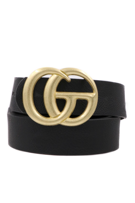 GiGi Belt Black with Matte Gold