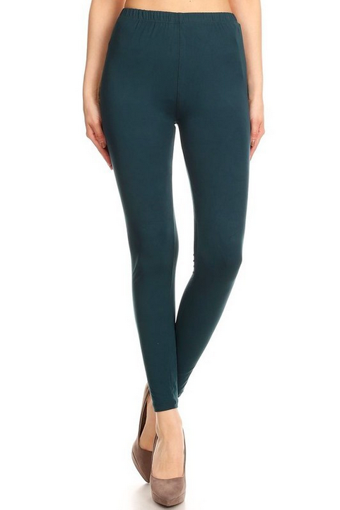 Buttery Soft Basic High Waist Leggings Teal