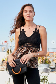Wild About You Lace Leopard Tank