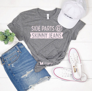 Side Parts and Skinny Jeans Tee